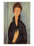 Woman with Blue Eyes, c.1918 Giclee Print by Amedeo Modigliani