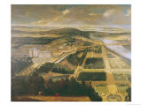 View of the Chateau and Gardens of St. Cloud Giclee Print by Etienne Allegrain