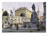 The Albertina, Vienna Giclee Print by Richard Pokorny