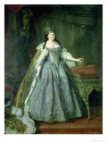 Portrait of the Empress Anna Ivanovna (1693-1740) 1730 Premium Giclee Print by Louis Caravaque