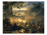 The Battle of Poltava in 1709, 1717 Giclee Print by Jean-Marc Nattier