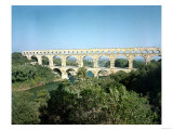 View of the Roman Aqueduct, Built circa 19 BC Giclee Print