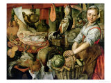 Kitchen Interior, 1566 Giclee Print by Joachim Beuckelaer