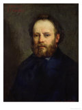 Portrait of Pierre Joseph Proudhon (1809-65) 1865 Giclee Print by Gustave Courbet