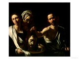 Salome Receives the Head of Saint John the Baptist, 1607-10 Giclee Print by Caravaggio