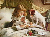 Suspense, Poster Giclee Print by Charles Burton Barber