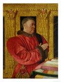 Portrait of Chancellor Guillaume Jouvenel Des Ursins (D.1472) 1460-65 Giclee Print by Jean Fouquet