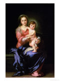 Madonna and Child, after 1638 Lámina giclée por Bartolome Esteban Murillo