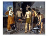 The Forge of Vulcan, 1630 Giclee Print by Diego Vel&#225;zquez