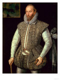 Portrait of Sir Walter Raleigh Giclee Print
