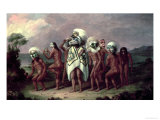 Medicine Mask Dance Premium Giclee Print by Paul Kane