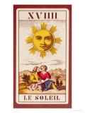 Xviiii Le Soleil, French Tarot Card of the Sun, 19th Century Giclee Print