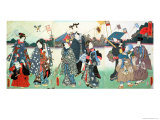 New Year&#39;s Festival Giclee Print by Utagawa Kunisada