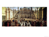 St. Mark Preaching in Alexandria, Egypt, 1504-07 Giclée-tryk af Gentile Bellini