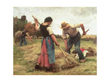 Haymaking, 1880 Giclee Print by Julien Dupr&#233;