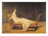 Madame Recamier, 1800 Reproduction proc&#233;d&#233; gicl&#233;e par Jacques-Louis David