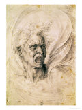 Study of a Man Shouting Giclee Print by  Michelangelo Buonarroti