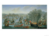 Naval Battle with the Spanish Fleet Giclee Print by Pierre Puget