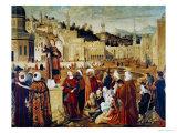 St. Stephen Preaching Giclee Print by Vittore Carpaccio