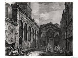 View of the Peristyle of the Palace of Diocletian (245-313), Roman Emperor 284-305, at Split Giclee Print by Robert Adam