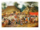 Wedding Feast Impression giclée par Pieter Brueghel the Younger