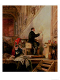 Daniel Maclise (1806-70) Painting His Mural &quot;The Death of Nelson&quot; in the House of Lords, 1865 Giclee Print by John Ballantyne