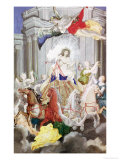 Triumph of King Louis XIV (1638-1715) of France Driving the Chariot of the Sun Preceded by Aurora Giclee Print by Joseph Werner