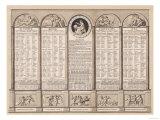 Republican Calendar, 1794 Giclee Print