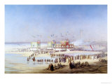 The Inauguration of the Suez Canal by the Empress Eugenie (1826-1920) 17th November 1869 Giclee Print by Édouard Riou