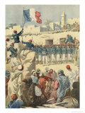 "The Raising of the French Flag at Timbuktu (Mali) from ""Le Petit Journal,"" February 1894 Giclee Print by Frédéric Théodore Lix"