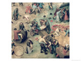 Children's Games (Kinderspiele): Detail of Bottom Right-Hand Corner of Children Playing Giclee Print by Pieter Bruegel the Elder