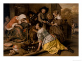 The Effects of Intemperance, circa 1663-65 Giclee Print by Jan Havicksz. Steen