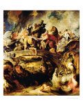 Battle of the Amazons and Greeks Giclee Print by Peter Paul Rubens