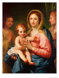 Madonna and Child with Two Angels, 1770-73 Giclee Print by Anton Raphael Mengs