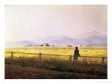 View of Schmiedebergerkamm, circa 1837 Wydruk giclee autor Caspar David Friedrich