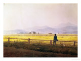 Caspar David Friedrich - View of Schmiedebergerkamm, circa 1837 - Giclee Baskı