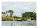 Boats at the Lock at Bougival, 1873 Giclee Print by Alfred Sisley