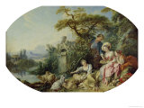 The Shepherd's Gift Or, the Nest Giclee Print by Francois Boucher