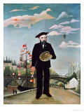 Self Portrait, from L&#39;Ile Saint-Louis, 1890 Giclee Print by Henri Rousseau