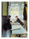 Lovers in a Cafe Giclee Print by Gotthardt Johann Kuehl