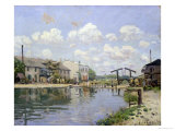 The Canal Saint-Martin, Paris, 1872 Giclee Print by Alfred Sisley