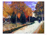Path in the Park at Arles, c.1888 Giclee Print by Vincent van Gogh