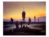 The Stages of Life, circa 1835 Gicléedruk van Caspar David Friedrich