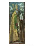 Saint Augustine of Hippo (354-430) 1590 Giclee Print by  El Greco