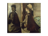 Madame Jeantaud in the Mirror, circa 1875 Giclee Print by Edgar Degas