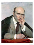 Portrait of Andre Gide (1869-1951) 1924 Gicléetryck av Paul Albert Laurens
