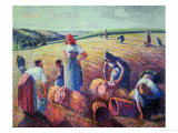 Women Haymaking, 1889 Giclee Print by Camille Pissarro