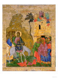 The Entry into Jerusalem, Russian Icon from the Iconostasis in the Cathedral of St. Sophia Lámina giclée