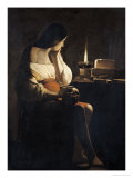 Mary Magdalene with a Night-Light, or the Terff Magdalene Giclee Print by Georges de La Tour