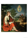 The Vision of St. John the Evangelist on Patmos Giclee Print by Juan Sanchez Cotan